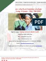 Randonnée  à Sa Pa et Croisière à la baie d'Ha Long  11 jours -  Dès  720 USD