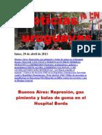 Noticias Uruguayas Lunes 29 de Abril Del 2013