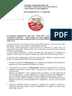 Programma Amministrativo Della Lista UNITI PER I CITTADINI