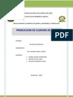 produccion de cloruro de etilo