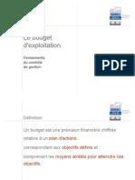Budget d'Exploitation
