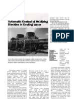Automatic Control of Biocide in Cooling Water