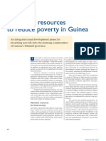 Mobilizing resources to reduce poverty in Guinea