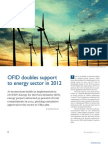 OFID doubles support to energy sector in 2012