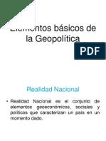 Elementos básicos de la Geopolítica