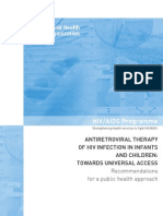 Anti Retroviral Therapy guidelines