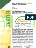Zertifikat --Ko-tex 100 - Solvotex Pes Banner 240