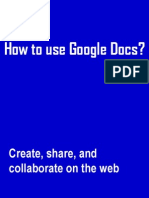 How to Use Google Docs? a sample tutorial