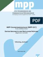 IMPP Gegenstandskatalog Anatomie