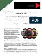 Suunto Ambit 2 Nota Prensa Oficial 29abr13