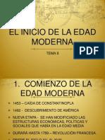 Tema 9. El Inicio de La Edad Moderna