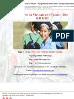Découverte du Vietnam en 17 jours -  Dès 1135 USD
