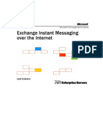 Exchange Instant Messaging Over the Internet