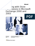 Working With Store Per Missions in Microsoft Exchange 2000 and 2003