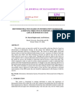 Identified Practice Based on Information System for Achieving Objective