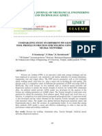 Comparative Study on Different Pin Geometries of Tool Profile in Friction Stir Welding