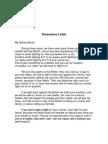 Persuasive Letter - Draft