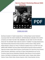 Honda Cgr125 PDF Service Repair Workshop Manual 2005 Onwards