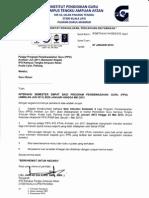 Surat Penggilan Pelajar Ppg Semester 4 Sesi Jan-mei 2013
