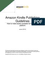 Amazon Kindle Publishing Guidelines