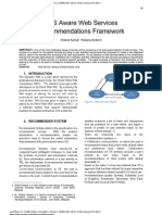 QoS Aware Web Services Recommendations Framework