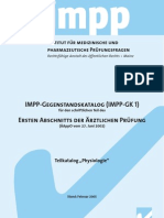 IMPP Gegenstandskatalog Physiologie