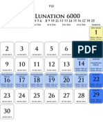 Yr 6000 Calendar