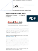 Open Source PACS Under Windows 7