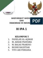 Makalah PKN kelompok 5 Masyarakat Madani dan Demokrasi di Indonesia.docx