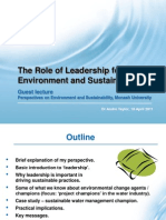 The Role of Leadership for Environment and Sustainability