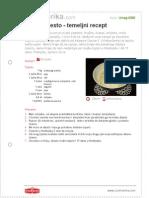 Dizano Tijesto Temeljni Recept