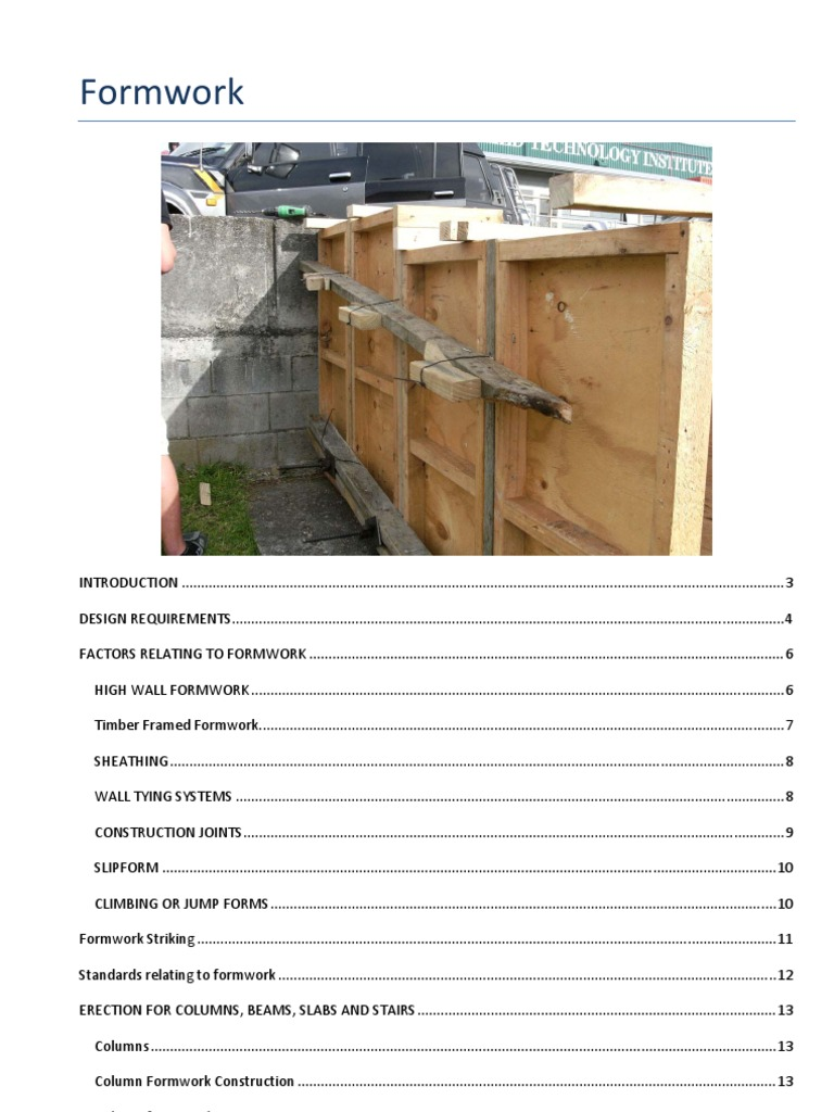 Formwork Pdf Framing Construction Stairs