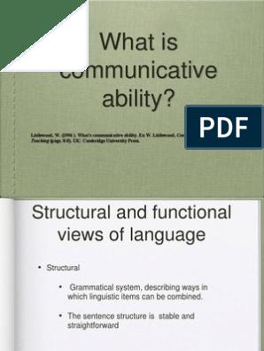 Communicative Skills 1 Linguistics Foreign Language