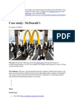 Case study McDonald's by andrew campbell