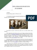 Les Farines Animales de Retour en Europe