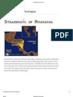 Steamboats of Nicaragua