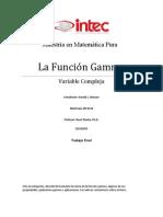 Investigacion de La Funcion Gamma Para Variable Compleja