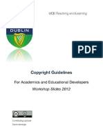 Developing e-learning resources: Copyright Guidelines Scd