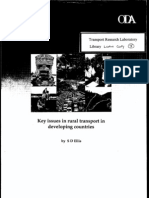 Key Issues in Rural Transport in Developing Countries