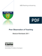 Peer Observation of Teaching:
