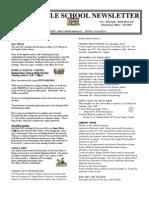 April 26 2013 Newsletter