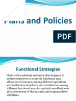 31362852 Functional Level Strategies Plan and Policies