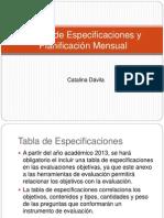 Capacitación Docente planificación y tabla de especificaciones