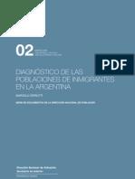 CERRUTI Diagnostico de Las Poblaciones de Inmigrantes en Argentina