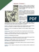 Résumé de Candide + description des persos + morale