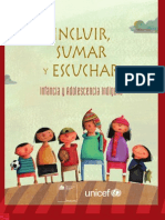 2011 Chile Infancia Indigena Informe Unicef Mideplan