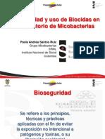 Bioseguridad y Uso de Biocidas en El Laboratorio de Micobacterias- SDS 2012