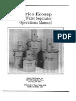 Zander OWS EcoSep WT-5-10-20-30 Manual