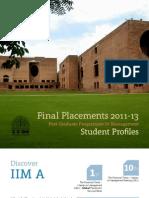 IIMA PGP Students Profile 2011 13