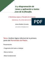 Análisis y diagramación de argumentaciones y aplicación a textos clásicos de la filosofía. Ampliar en